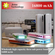 Factory price 16800Mah Portable High Capacity Power Bank For iPhone ipad Tablet PC PSP Digital Camera Media Player