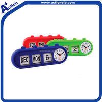 Auto flip calendar alarm clock
