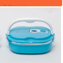 2014 Newest 2 Layers Mini Detachable Food Warmer Car Electric Lunch Box