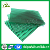 grass green sound insulation opal six wall hollow polycarbonate