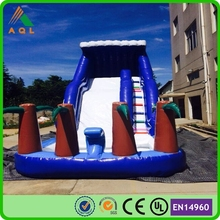 Cheaper palm tree inflatable water slide for inflatable pool, big water slide