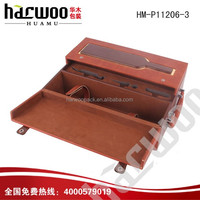 Luxury Leather wine display packing with windows for sale