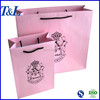 Easy taking good for gift packaging factory T&L brand cheap and cute gift paper bag in pink