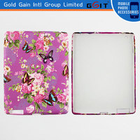 2014 Newest Flowers and Butterfly TPU Back Cover Case For iPad 2, Competitive Price Case For IPad 2