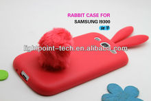 Cute Rabito rabbit funny case for samsung galaxy s3 i9300 cover,rabbit silicone for samsung galaxy s3 case,With Retail Packing
