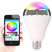 Colorful bluetooth bulb mini wireless speaker with LED light