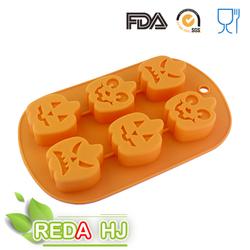 pumpkin shape halloween silicone chocolate mold for kid