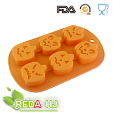 pumpkin shape halloween silicone chocolate mold for kid