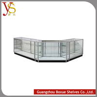 Hot-Selling High Quality Low Price OEM wooden shop furniture Backlight effect rotating display case