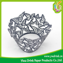 Eco-friendly Beautiful Butterful lace cupcake wrapper