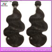 high quality virgin body wave 100% human peruvian virgin hair double wefts