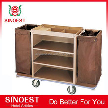 Hotel housekeeping linen size trolley cart