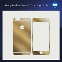 mobile phone accessories 9H hardness explosion-proof clear gold tempered glass screen protector for iphone 6 plus