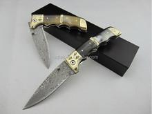 OEM damascus pocket knife hand made knife UDTEK00551