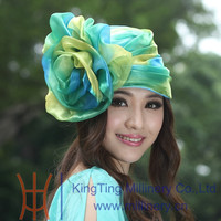 Womens Unique Colorful Fashion Hat/Bonnet With Big Flower Fascinators