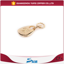personalized logo ring zipper pull