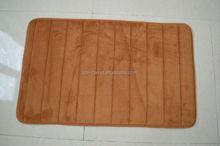 eco-friendly feature brown Microfiber Memory Foam Bath mat