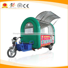 CE OEM GAS/ELECTRICAL pizza/crepe makers outdoor food cart with BIG WHEEL and TOWED BAR