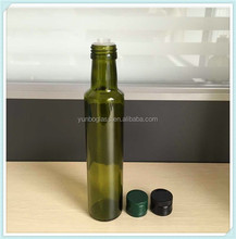 High Quality Antique Green 250ml Dorica Bottle With Olive Oil Pourer for Oil Container for Kitchen Wholesale in Stock