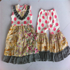 First Impressions Western Girls No Sleeve Floral Dress Top And Casual Ruffle Pant Boutique Children's Clothing