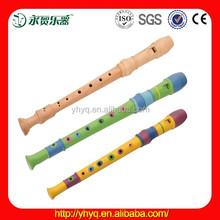 Children wood flute music instrument,orff wooden flute