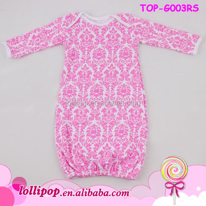 Newest Design Monogrammed Newborn Icing Ruffle Baby Gown Baby Night ...
