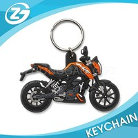 Motorcycle Cartoon Rubber Keychain Boys Simulation Motor Rubber Keychain