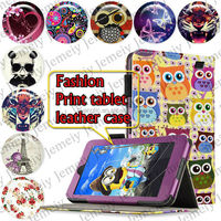 "For Amazon Kindle fire HD7 7"" Tablets Printing Folding PU Leather Case Media Stand Folio Case Cover"