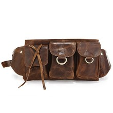 3014R-2 Vintage Leather New Fashion Unisex Waist Bag Fanny Pack Purse Tote Comfortable