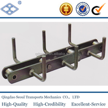 FU350 pitch 200 custom design scraper cement steel conveyor chain