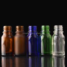 cosmetic packaging hair oil bottle 10ml clear blue green amber glass bottle for oil