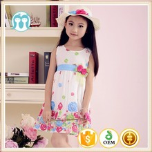2015 new elegant fashion baby girl clothes printed kids clothes