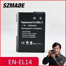 Camera battery for NIKON EN-EL14,replacement li-ion digital camera battery pack
