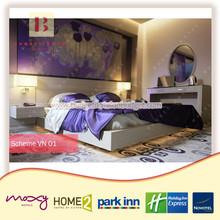 2015 new modern 4 stars hotel bedroom furniture set for project