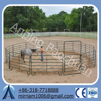 """2"""" x 4"""" spacing hinge joint best price red top 4'high non climbing horse fence"""