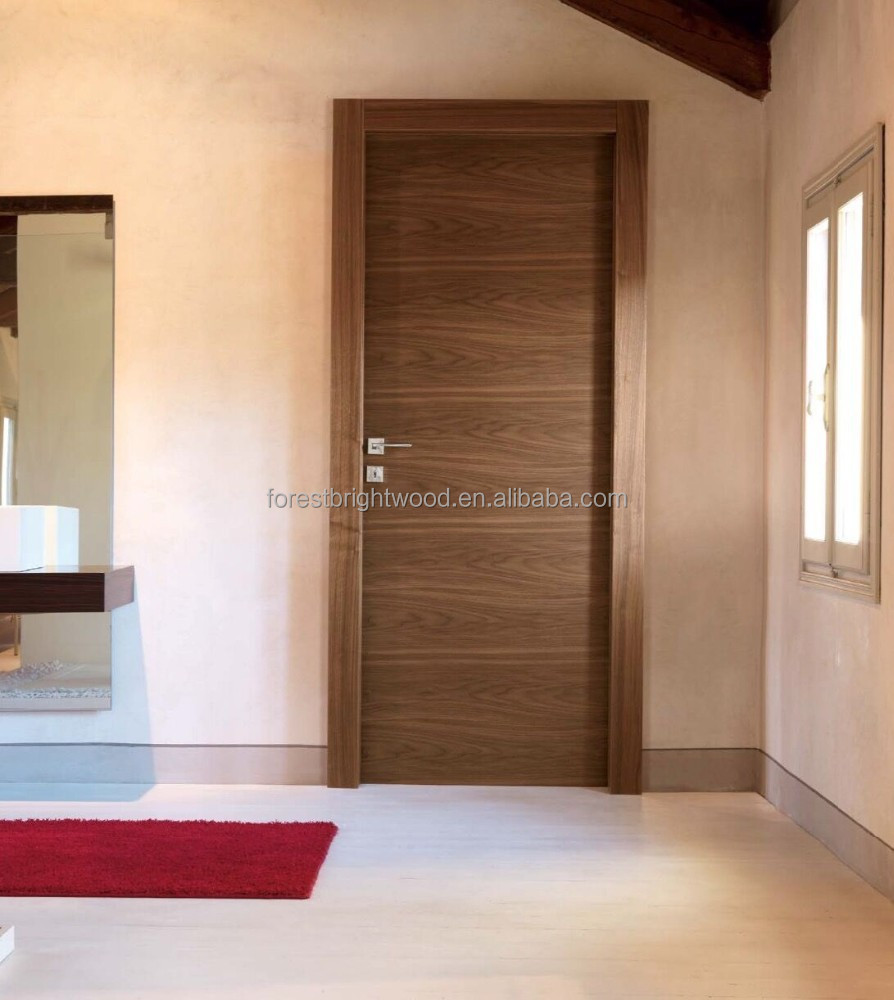 Bedroom veneered flush wood door design buy bedroom door for Bedroom door designs
