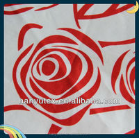 cotton sateen rose print cotton fabric