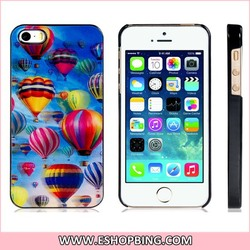 Beads Decorated Faux Leather Flip Case for iPhone 5S 5 White