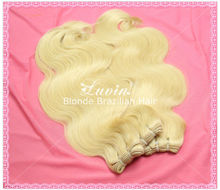 Color 613 Brazilian Blonde Hair 40 Inch Blonde Hair Extensions