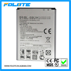 Rechargable Li-ion Battery 3.8v 2440mAh BL-59UH for LG Optimus G2 Mini