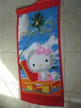 Reactive printed promotional cat beach towel