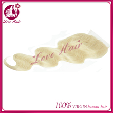 New arrive wedding party body wave blonde 613 hair price list brazilian hair lace closure correct bleach blonde 613