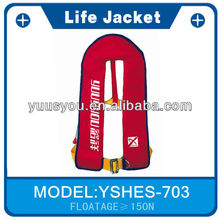 High-nylona waterproof CE/CCS/SOLAS/ISO9001 approved automatic inflatable life jack