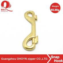 Best price two way brass snap hook gold color double head snap hook