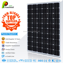 Powerwell Solar 260W Mono With CE/IEC/TUV/ISO/CEC/INMETRO Approval Standard Top Supplier Solar System