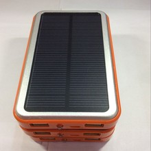 Hotest Slim Power Charger 4000mah Dual USB Solar Power Bank free sample