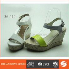 2015 office lady wedge sandals in high heel lady shoes