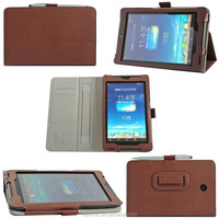 Fashion SAFFIANO ID Card SD Card Slots Practical Hand Strap Stand Soft Leather Tablet Case 7.0 Inch For ASUS Fonepad 7