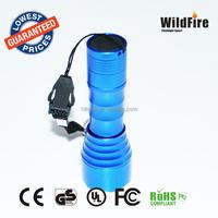 powerful 3*AAA battery skyblue portable emergency flashlight