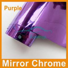 Super quality Crazy Selling silver car chrome mirror vinyl film